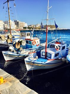 Tinos, Greece — by Erdem Yücel. Fisherman boats Tinos island ; Greece