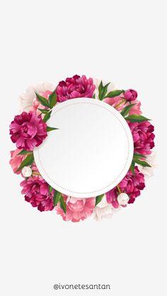 Framed Wallpaper, Flower Background Wallpaper, Flower Phone Wallpaper, Pink Wallpaper Iphone, Flower Backgrounds, Wallpaper Borders, Flower Frame, Flower Art, Flower Boxes