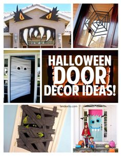 Halloween Door Decor Ideas | landeelu.com So many fun ideas and DIY tutorials to dress up the outside and inside doors of your house for Halloween!