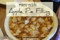 Home-made Apple Pie Filling Homemade apple pie filling Apple Pie Recipes, Apple Desserts, Fall Recipes, Sweet Recipes, Dessert Recipes, Dessert Tray, Homemade Apple Pie Filling, Apple Filling, Filling Recipe