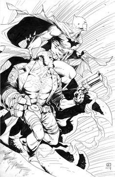 Batman and Hellboy by Khoi Pham *