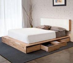 cama baixa com gavetas
