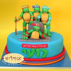 ninja turtles cake- this would of been great 20 years ago for my son and his friend!!!