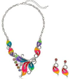 colorful bib necklac