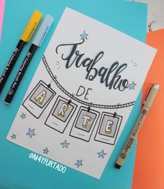 Simple Bullet Journal Ideas to Simplify your Daily Activity Bullet Journal School, Bullet Journal Notes, Notebook Art, Notebook Covers, Lettering Tutorial, Stabilo Boss, School Notebooks, Decorate Notebook, Caro Diario