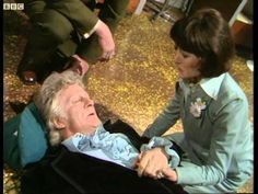 Third Doctor regenerates - Jon Pertwee to Tom Baker - Doctor Who - Planet of the Spiders - BBC