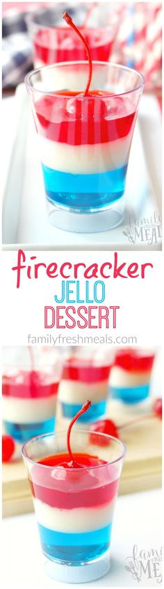 4th Of July Jello Firecrackers Fun Food for Kids and adults!! FamilyFreshMeals.com