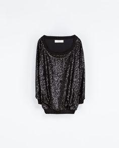 Sequin Sweater | Zara