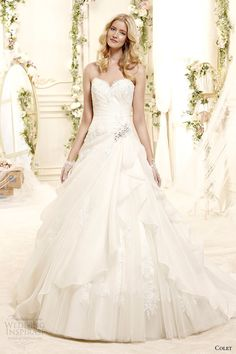 wedding dresses 2015 collection | ... 2015 style 1 coab15230iv sweetheart strapless a line wedding dress