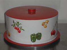 Vintage Aluminum Carrier with Veggies