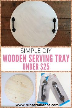This DIY wooden serving tray takes just minutes to make and has such a high impact. It's food-safe and a totally easy beginner's project! Diy Home Crafts, Easy Diy Crafts, Diy Crafts To Sell, Decor Crafts, Tree Crafts, Creative Crafts, Wood Crafts, Wooden Food, Wooden Diy