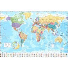 Art.com - World Map Poster