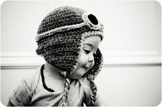 aviator hat, I got to make this for Cutter!