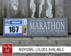 Marathon Medals Display and Bib Holder by StrutYourStuffSignCo