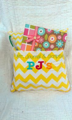 PJ's (prayer, journal, and scriptures)Bed Throw Pillow. Great gift for a girl coming into Young Women's!