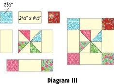 Framed Pinwheel Block: FREE Quilt Block Pattern Download by Tanna Nelson