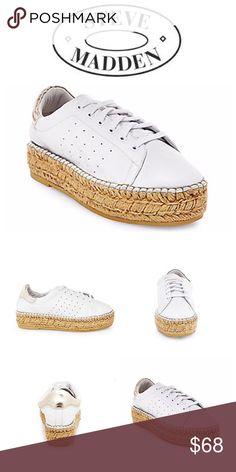 Steve Madden Pace leather/jute flatforms Worn only two times. 1.5 inch platform. Steve Madden Shoes Espadrilles