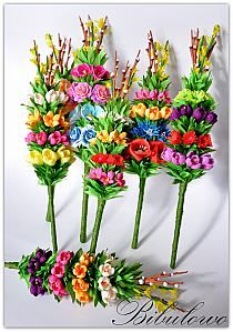 Palmy - Stylowi.pl - Odkrywaj, kolekcjonuj, kupuj Polish Easter Traditions, Easter Crafts, Christmas Crafts, Celebration Around The World, Quilted Ornaments, Easter Wreaths, Spring Flowers, Paper Flowers, Floral Arrangements