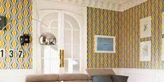 Aquí puedes ver algunas ideas para decorar paredes con papel de pared o lo que se conoce como revestimiento de paredes, muy económico para darle un look completamente a cualquier habitación. Tienes más ideas de decoración con papel de pared en el post :)