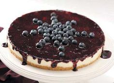 Lemon Blueberry Cheesecake Recipe from Taste of Home -- shared by Julia Klee of Bonaire, Georgia