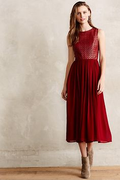 Lasercut Leather Dress - anthropologie.com