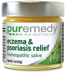 Puremedy Bio-Ceuticals Eczema & Psoriasis Relief Homeopathic Salve features elderberry, marigold (calendula), echinacea and mountain grape. This indigenous family remedy passed down through several ge