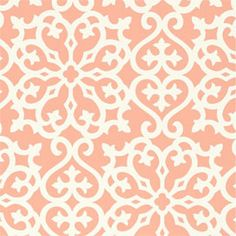 Derbyshire Damask Wallpaper in Coral