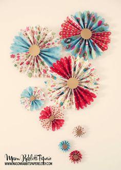 15% OFF Christmas Pinwheels OOAK Christmas Decor Wall Decor by MasonRabbitsPaperie, $22.52