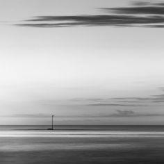 Channel Marker Light http://mabrycampbell.com #maine #seascape #minimalism #blackandwhite #mabrycampbell #longexposure #photograph #image