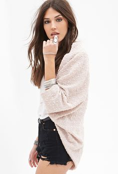 Sequined Knit Dolman Cardigan