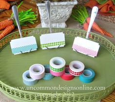 Washi Tape Place Card Tutorial... Uncommon; Creating the Extraordinary.