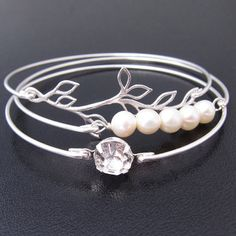 Hey, I found this really awesome Etsy listing at https://www.etsy.com/listing/87803552/romance-silver-bridal-bracelet-set