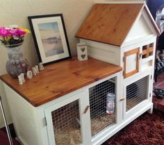 Rabbit hutch (Painted white & canadian cedar stain)