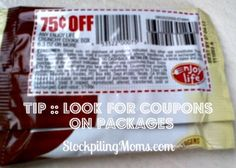 Stockpiling Tip :: Look for #Coupons on Packages