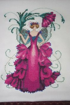 Zinnia is the title of this cross stitch pattern from Nora Corbett of Mirabilia Designs.  You will need the embellishment pack, Kreinik Conf...