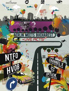 Berlin Meets Bucharest - NTFO , HVOB Bucharest, Berlin, Parties, Meet, Youtube, Fiestas, Fiesta Party, Party, Youtubers