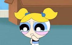 Bubbles Wallpaper, Cute Wallpaper Backgrounds, Cute Cartoon Wallpapers, Cartoon Icons, Cartoon Memes, Girl Cartoon, Cartoons, Power Pop Girl, Crying Cartoon