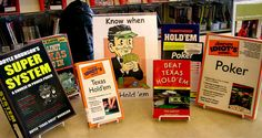 Know When to Hold 'Em Display | Books on Poker and Texas Hold 'Em. From the beginner level to expert.