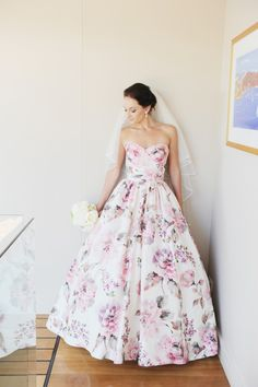 Gorgeous Floral Wedding Gowns | Stay At Home Mum #weddings #weddingdresses