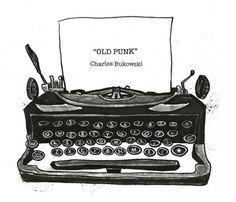Designer Bukowski, Vintage Typewriter