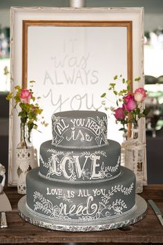 all you need is love cake | Tamara Jaros Photography | Glamour & Grace