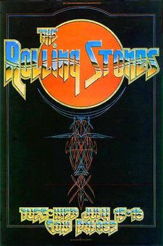 1975 -- The Rolling Stones played a sold out show at the Cow Palace in Daly City, Calif. This was the first Stones tour with Ron Wood, after guitarist Mick Taylor had left the band.  This outstanding poster was a collaboration by rock artists Alton Kelley, Stanley Mouse, Randy Tuten, and the Crazy Arab.  Thanks for sharing, Professor Poster!