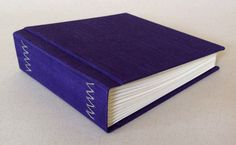Bright purple book cloth journal bound in the by SweetinkBooks www.etsy.com570 ×…