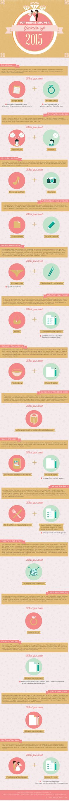 The Perfect Bridal Shower Checklist | Events || Games, Treats