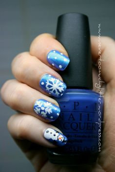 Snowflake Nail Art - I tried it last winter season and was complimented dozens of time.  Something to freeze for!