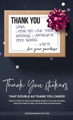 Thank You For Your Purchase Sticky Printable Thank You Notes, Package Stickers, Business Thank You Stickers, Poshmark Thank You Labels Printable Thank You Notes, Thank You Labels, Thank You Messages, Thank You Stickers, Thank You Gifts, Business Thank You Notes, Business Stickers, Business Labels, Business Ideas