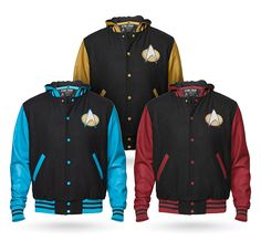 These varsity jackets are a nice change of pace from the standard Starfleet…