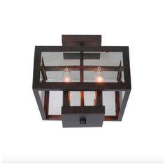 Modern Semi Flush Mount Ceiling Pendant Light Glass Square Shade Dining Room New | Home & Garden, Lamps, Lighting & Ceiling Fans, Chandeliers & Ceiling Fixtures | eBay!