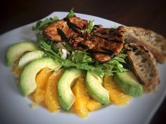 turkey salad with oranges and avocados