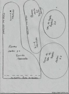 FELTRO MOLDES ARTESANATO EM GERAL: BONECAS DE PANO COM MOLDES
